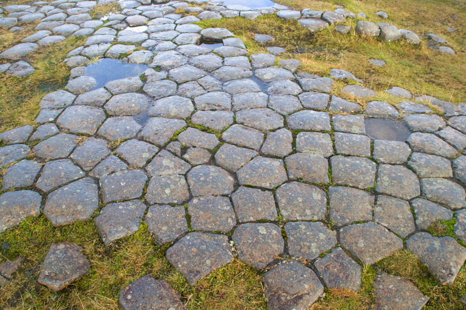The natural stone slabs at Kirkjubæjarklaustur known as the