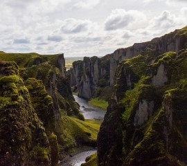 Canyon in South Iceland